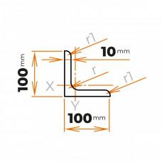 Tyč profilového prierezu L 100x100x10 mm
