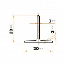 Tyč profilového prierezu T 20 mm