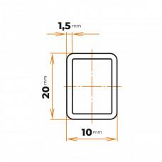 Uzavretý profil 20x10x1,5 mm