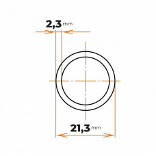 Rúra ZN 21,3x2,3 mm (1/2)