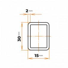 Uzavretý profil 30x15x2 mm