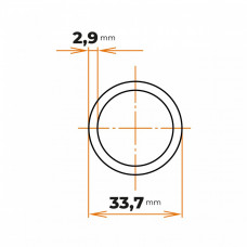 Rúra zváraná 33,7x2,9 mm