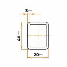 Uzavretý profil 40x20x3 mm