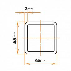 Uzavretý profil 45x45x2 mm