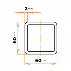 Uzavretý profil 60x60x2 mm