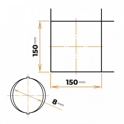 Sieť 8/150x150 2000x3000 mm
