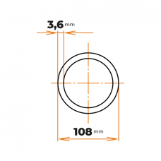 Rúra zváraná 108/3,6 mm