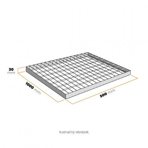 Rošt 500x1000 mm SP 230-34/38-3 mm ZN