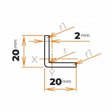 Tenkostenný profil L 20x20x2 mm