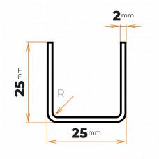 Tenkostenný profil U 25x25/2 mm