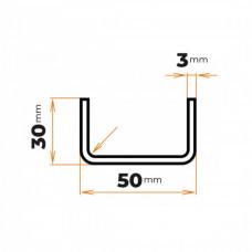 Tenkostenný profil U 50x30/3 mm