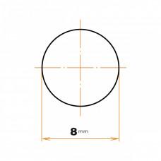 Tyč kruhová presná  8 mm