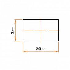 Tyč plochá 20x3 mm