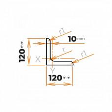 Tyč profilového prierezu L 120x120x10 mm
