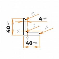 Tyč profilového prierezu L 40x40x4 mm