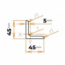Tyč profilového prierezu L 45x45x5 mm