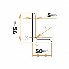 Tyč profilového prierezu L 75x50x5 mm