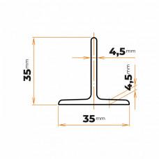 Tyč profilového prierezu T 35 mm
