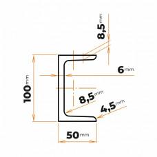 Tyč profilového prierezu U 100 mm