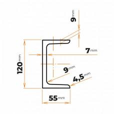 Tyč profilového prierezu U 120 mm