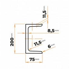 Tyč profilového prierezu U 200 mm