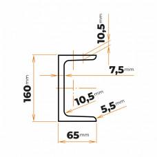 Tyč profilového prierezu U 160 mm